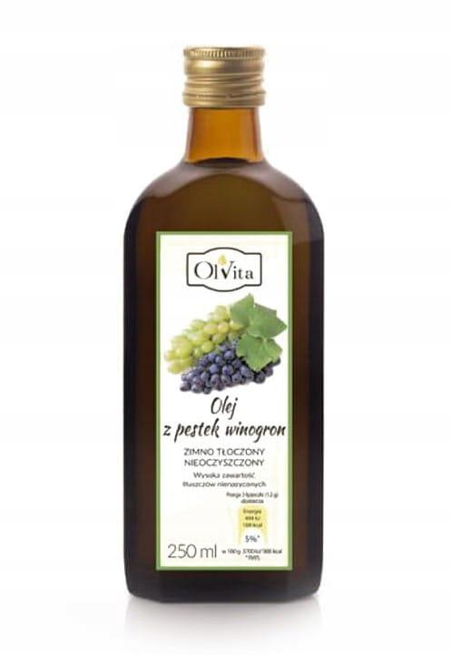 Olej z pestek winogron zimnotłoczony 250 ml Olvita