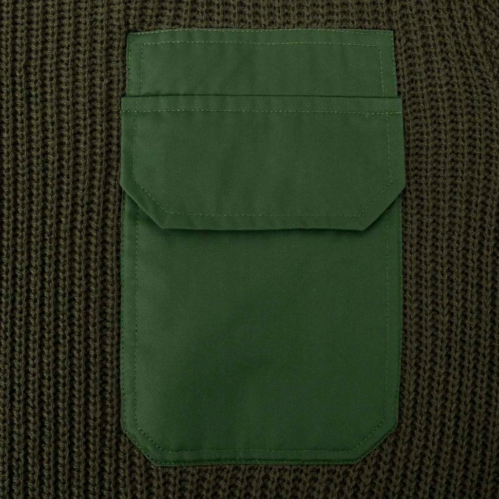 Sweter męski do pracy, ciemnozielony, rozmiar L