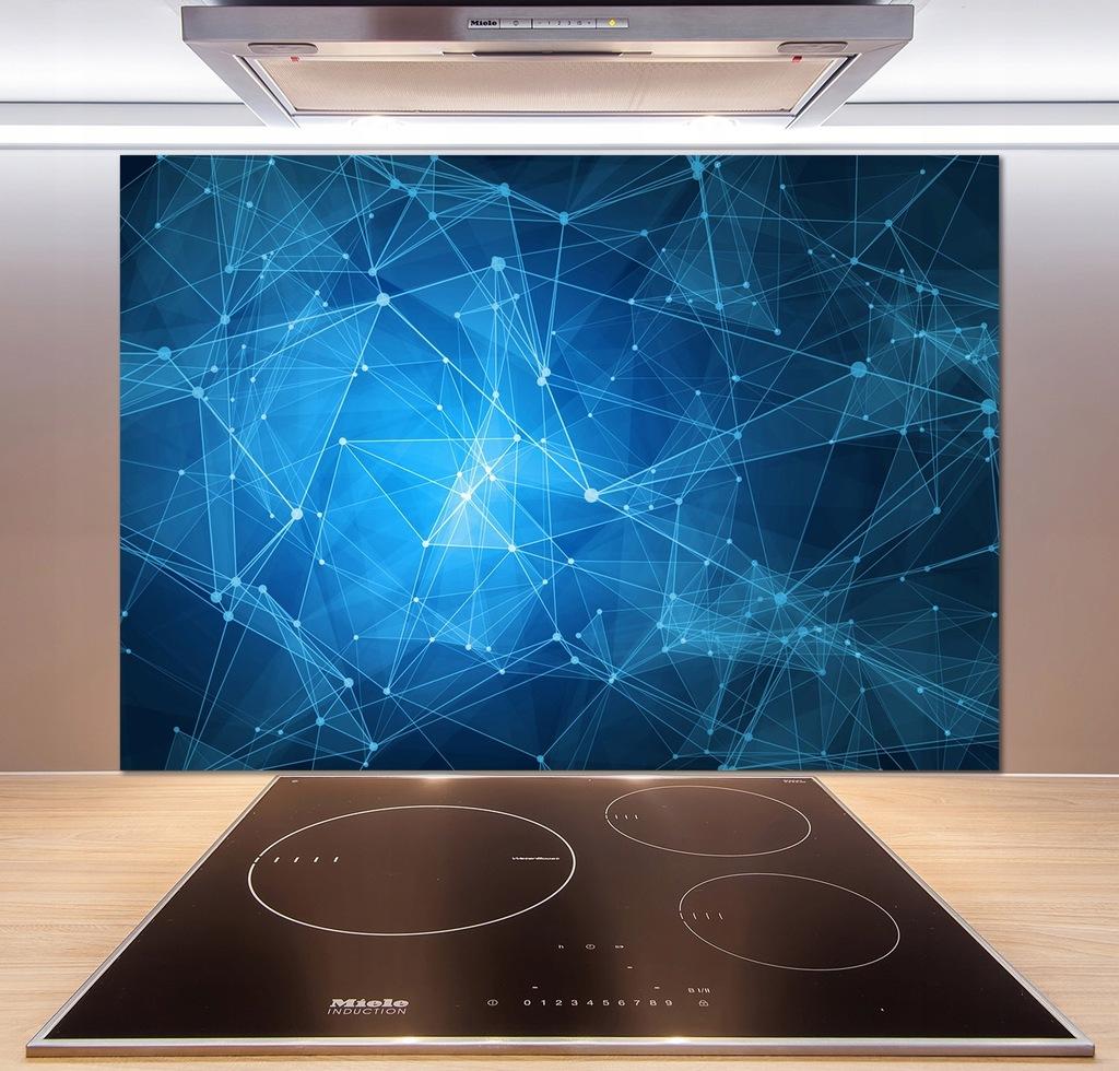 Panel do kuchni Niebieskie linie 100x70 cm + KLEJ
