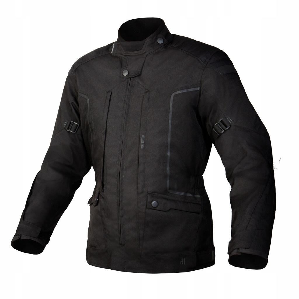 OZONE ROAD II BLACK długa kurtka tekstylna +gratis