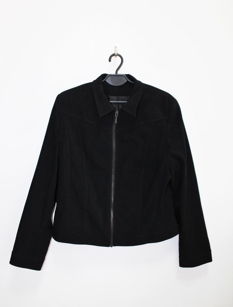 NL Collection czarna wiosenna kurtka zamek XXL 44