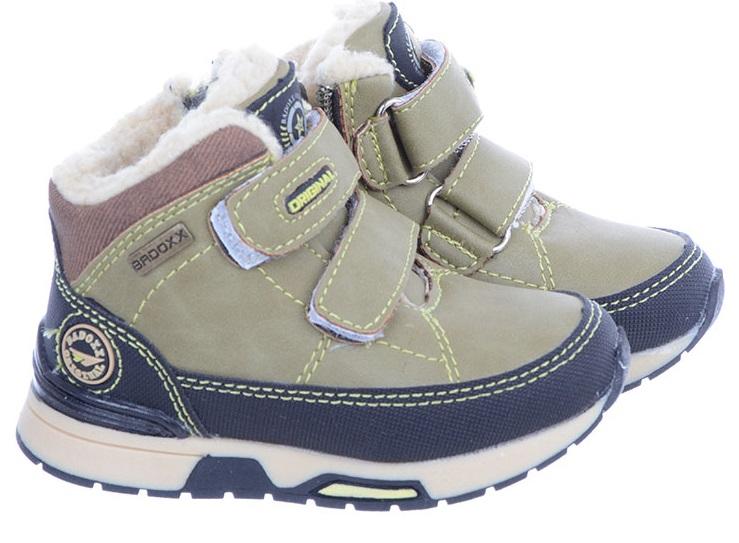 Buty Zimowe Ocieplane Chłopięce Zielone BADOXX 23