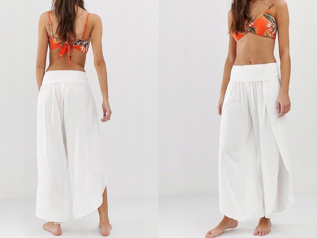 Seafolly Białe Spodnie Plażowe XS