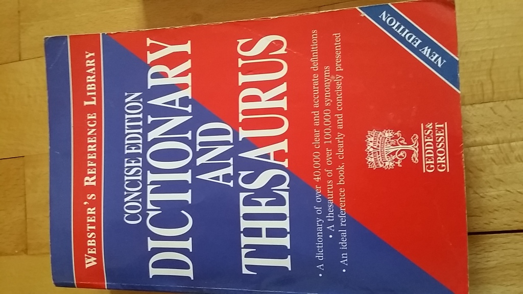 Concise dictionary and thesaurus