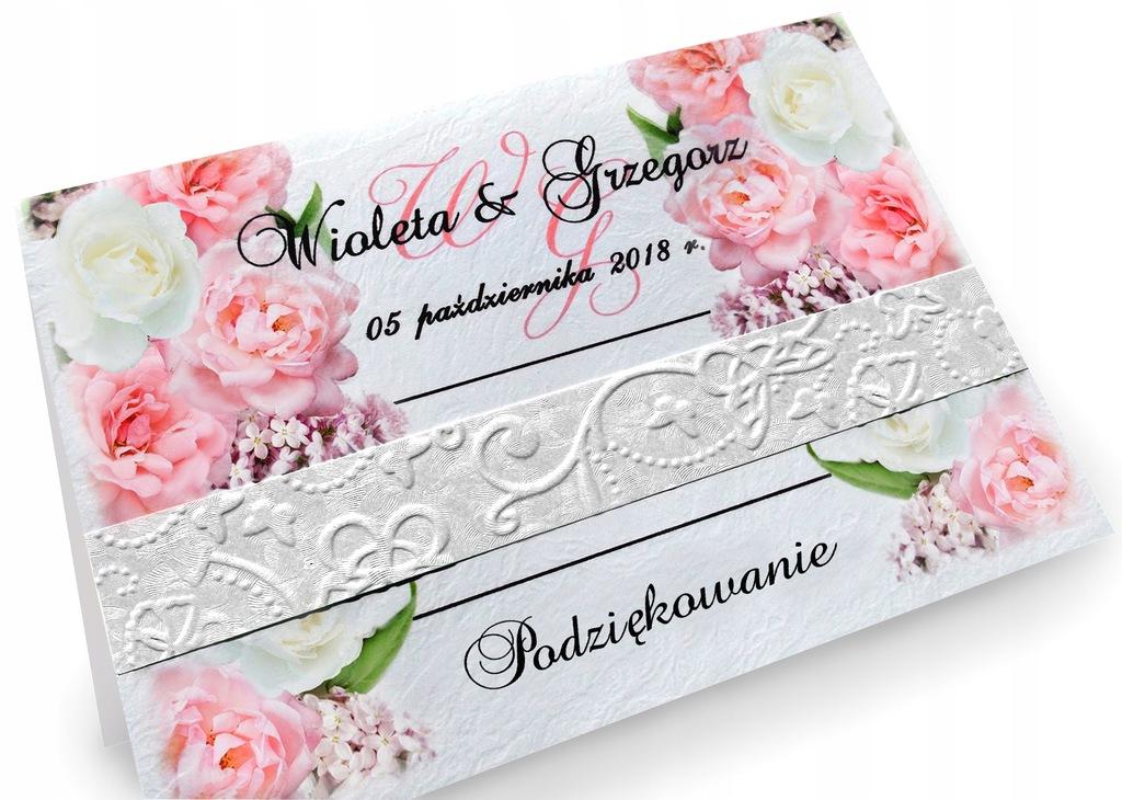 Podziękowania dla gości na ślub wesele