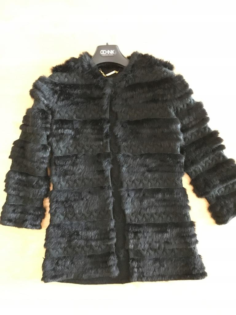Lekkie futerko/sweter królik Ochnik, rękaw 3/4 XS