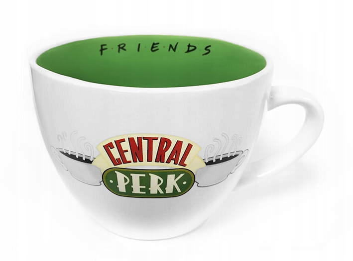 Kubek Cappuccino Central Perk White - Friends