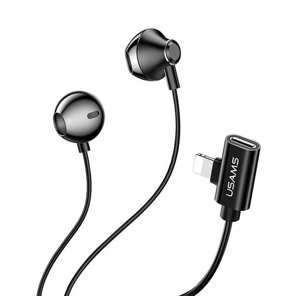 USAMS Słuchawki stereo EP-32 lightning z portem ła