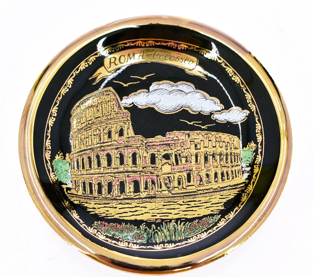 6071-26 ........ TALERZYK POZLACANY ROMA 9CM