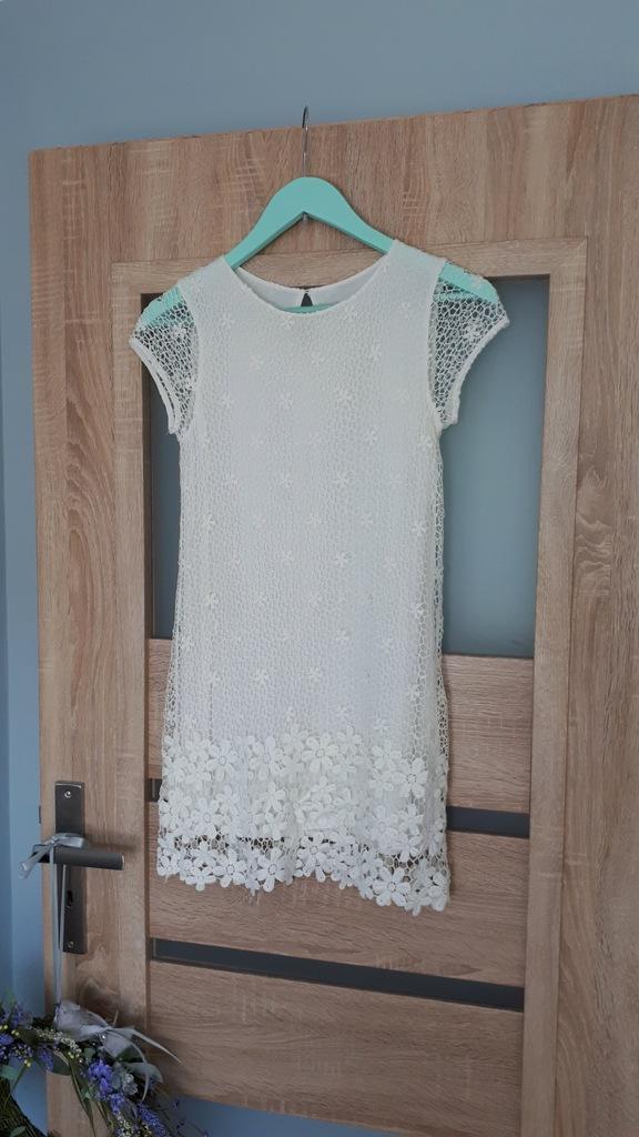 Zara sukienka koronka 152