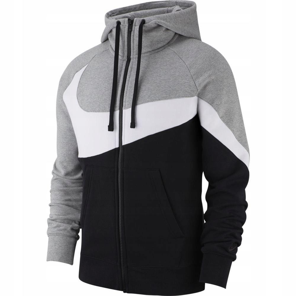 Nike bluza z kapturem męska bawełniana szara