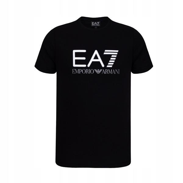 EMPORIO ARMANI czarny t-shirt męski EA7 E16 r.XL