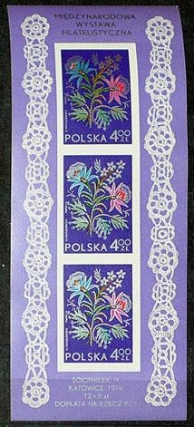 Polska - blok czysty - ładne wzorki !