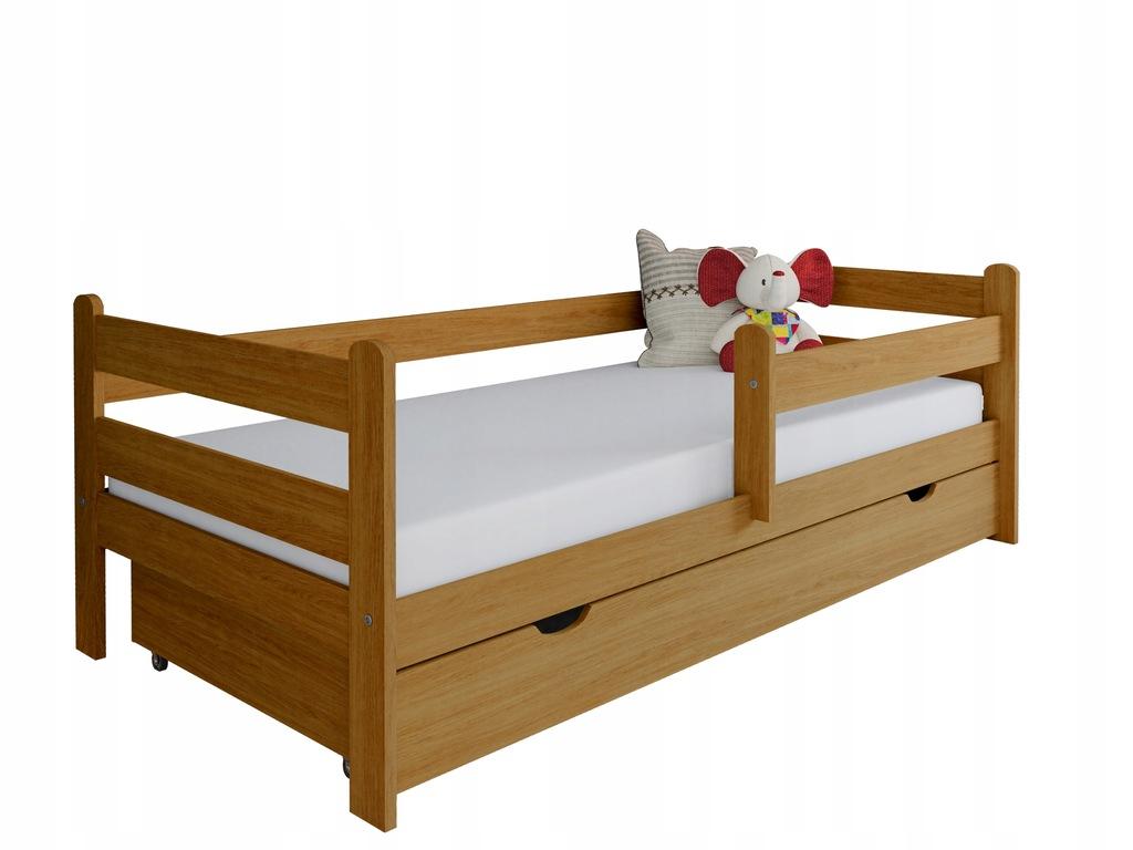 Łóżko dla dziecka z drewna Kevin 160x80 dąb