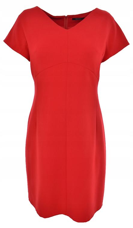 cAU8877 modna czerwona sukienka_44