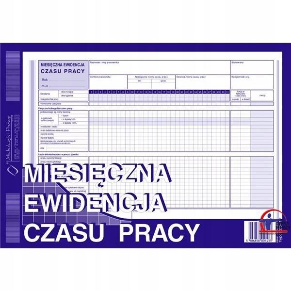 Druk miesi.ewid.czasu pracy 526-1 MEC Michalczyk