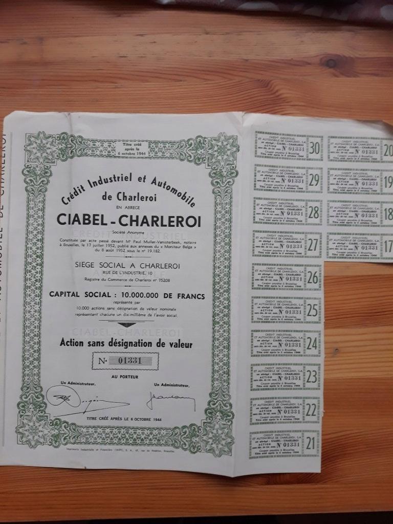 CREDIT INDUSTRIEL ET AUTOMOBILE DE CHARLEROI