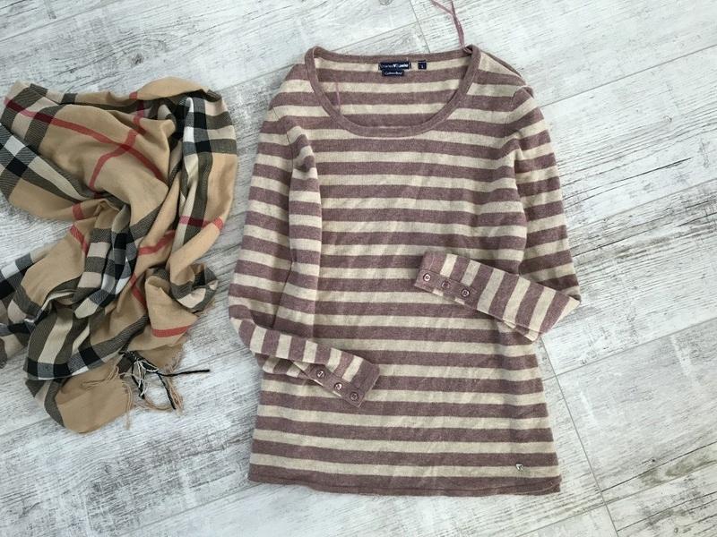 CHARLES VOEGELE wełniany sweterek L 40 KASZMIR