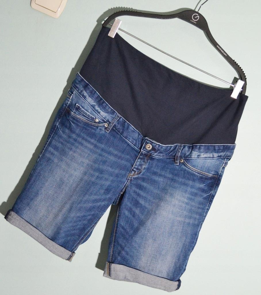 Spodenki ciążowe 3XL szorty dżinsowe jeans denim