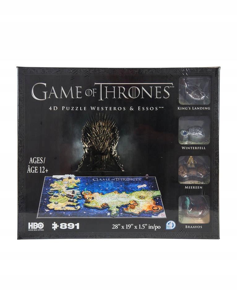Puzzle 4d Gra O Tron Game Of Thrones Westeros 9987452343 Oficjalne Archiwum Allegro