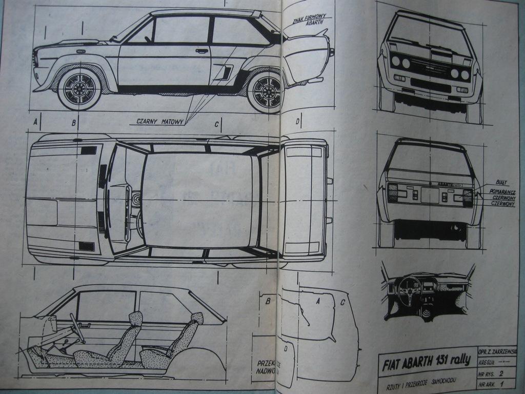 MODELARZ FIAT ABARTH 131 Rally Plan rok 1978