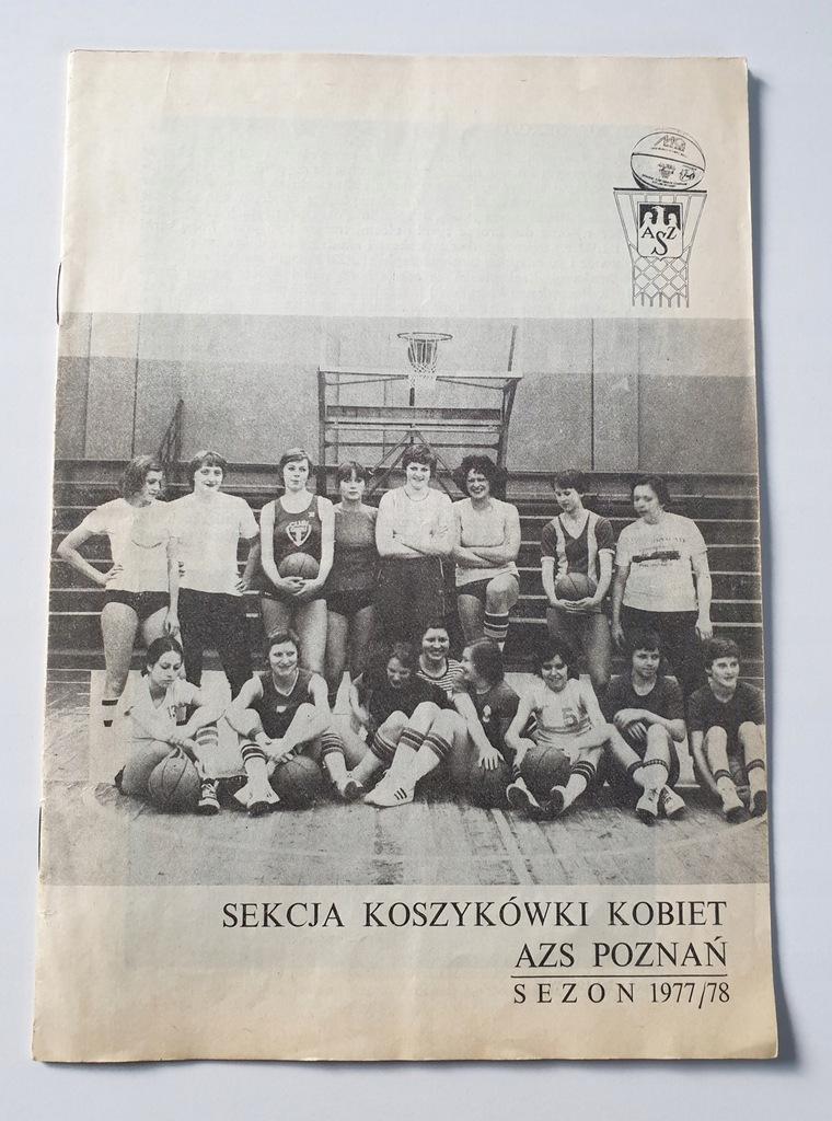 PROGRAM AZS POZNAŃ KOSZYKÓWKA KOBIET SEZON 1977/78