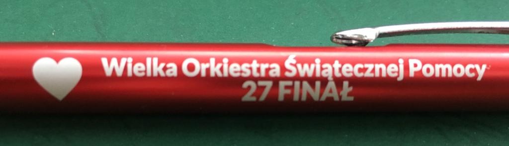 Długopis na 27 Finał - metalowy - (wkład zenith)