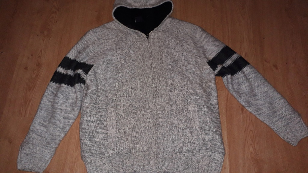 sweter męski na zimę gruby polar SHINE-XXL