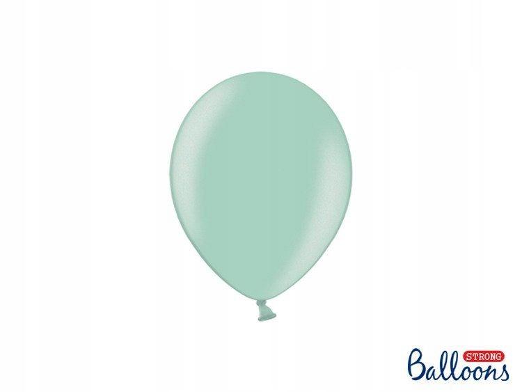 Balony Strong 12cm, Metallic Mint Green, 100szt