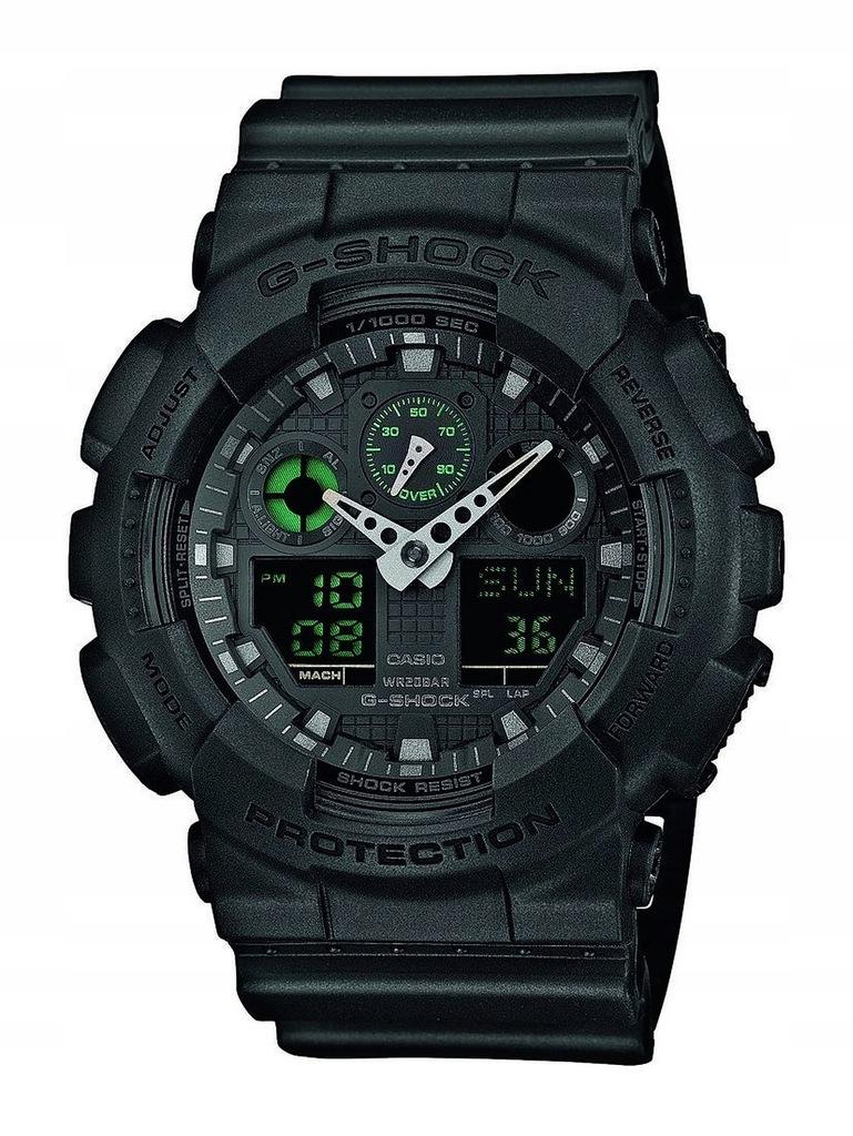 Zegarek CASIO GA-100MB-1AER G-SHOCK chrono data