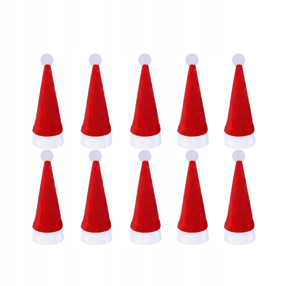 10 sztuk Santa Hat Boże Narodzenie Boże Narodzenie