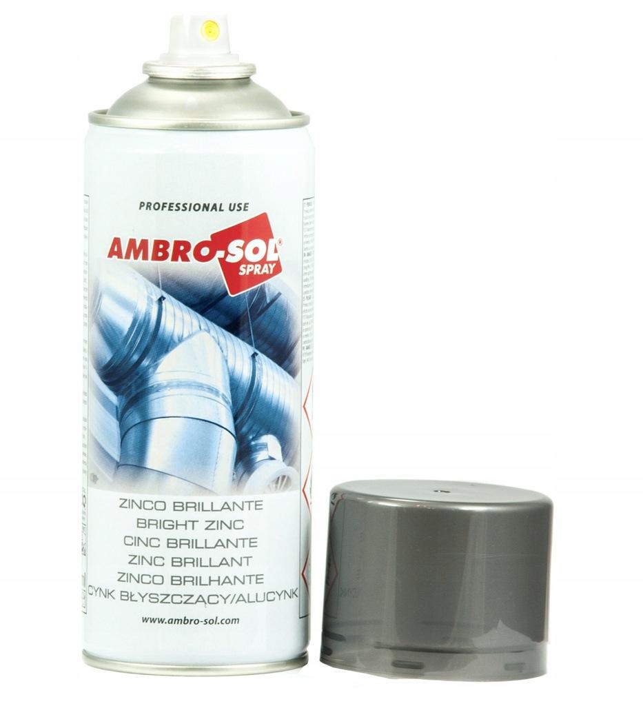 Cynk błyszczący w sprayu AMBRO 400ml