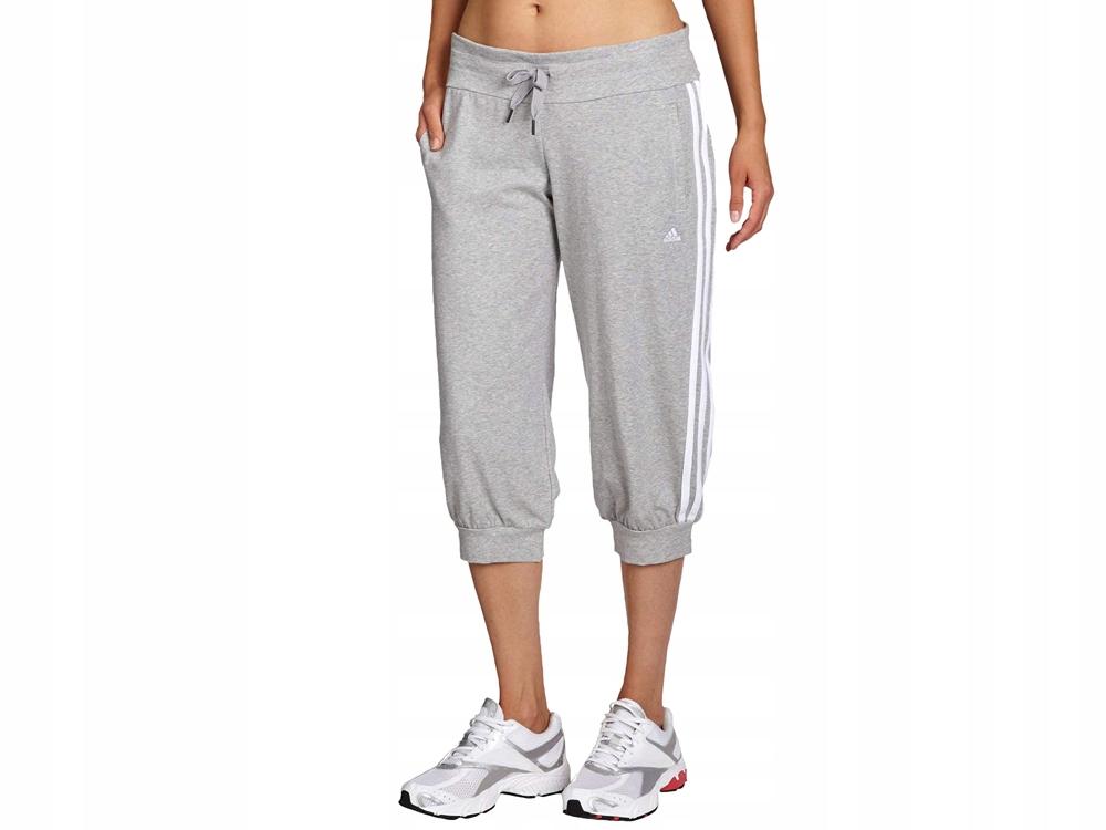 DRESOWE spodnie Damskie Adidas 34 X21249 szare