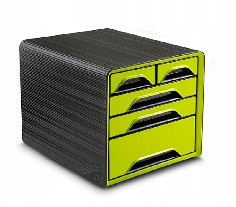 Zestaw 5 szufladek CEP Smoove czarny/zielony
