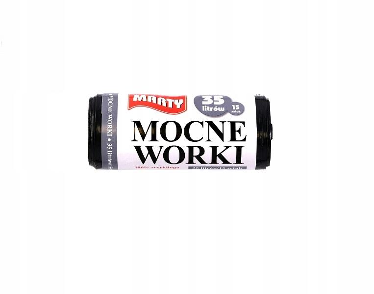 Worki na śmieci LDPE-MOCNE 35 litrów / 15 szt