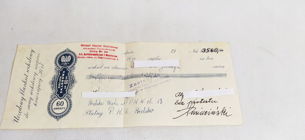 Weksel 60 Gr., Bielsko- Biała 1956