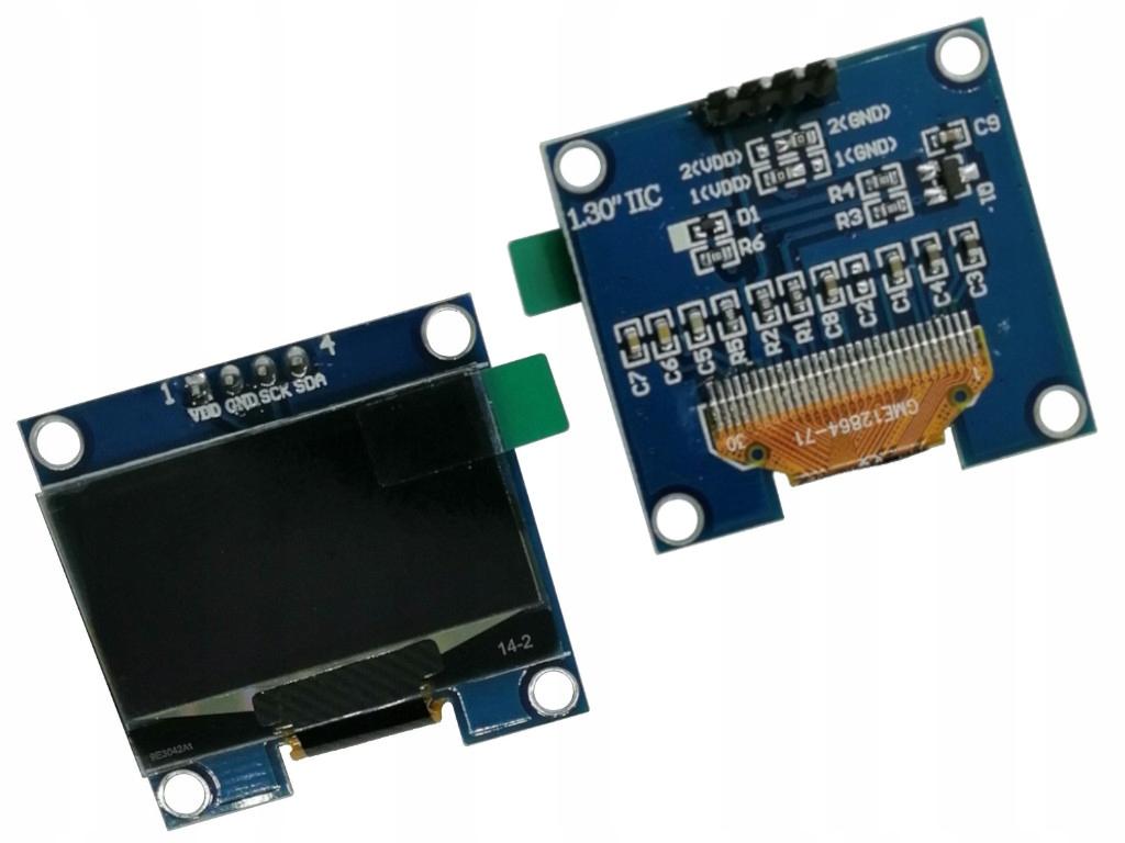 """Wyświetlacz OLED 1,3"""" 128x64 White I2C SH1106"""