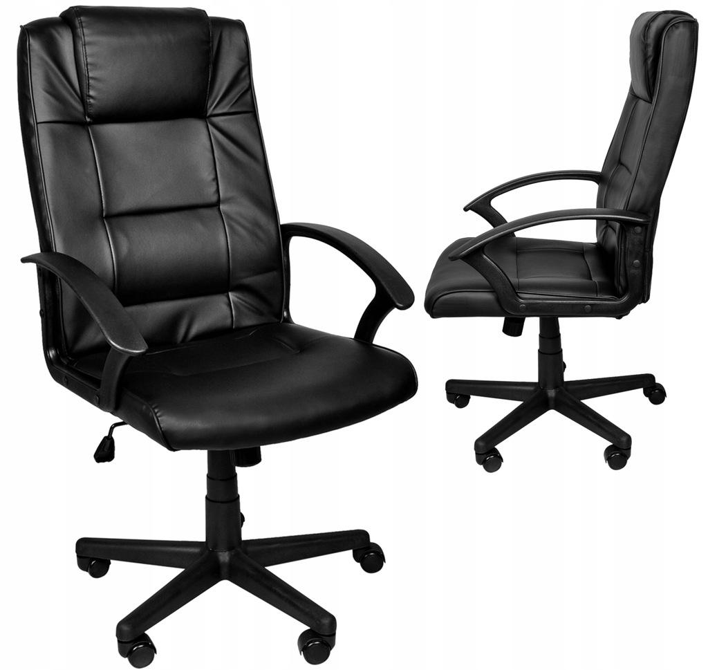 Fotel Biurowy Obrotowy Krzesło Bujanie Eko Skóra 8982 kup