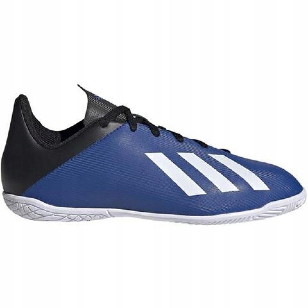 Niebieskie Syntetyk Buty Halowe Adidas r.31