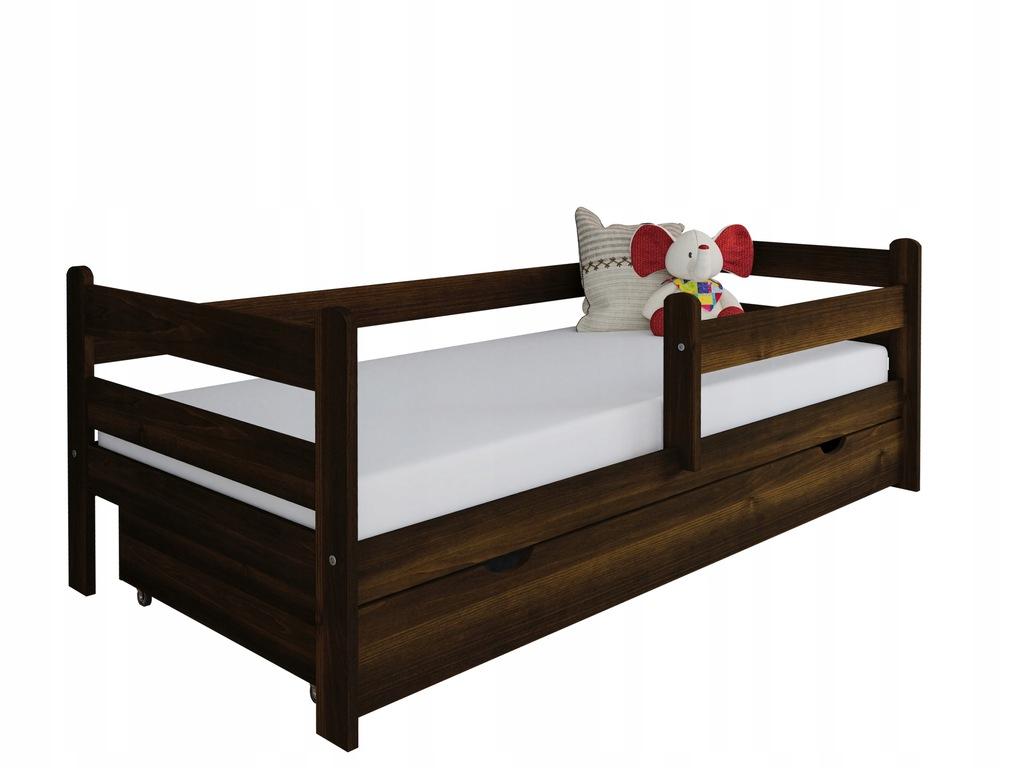 Łóżko dla dziecka z drewna Kevin 180x80 orzech