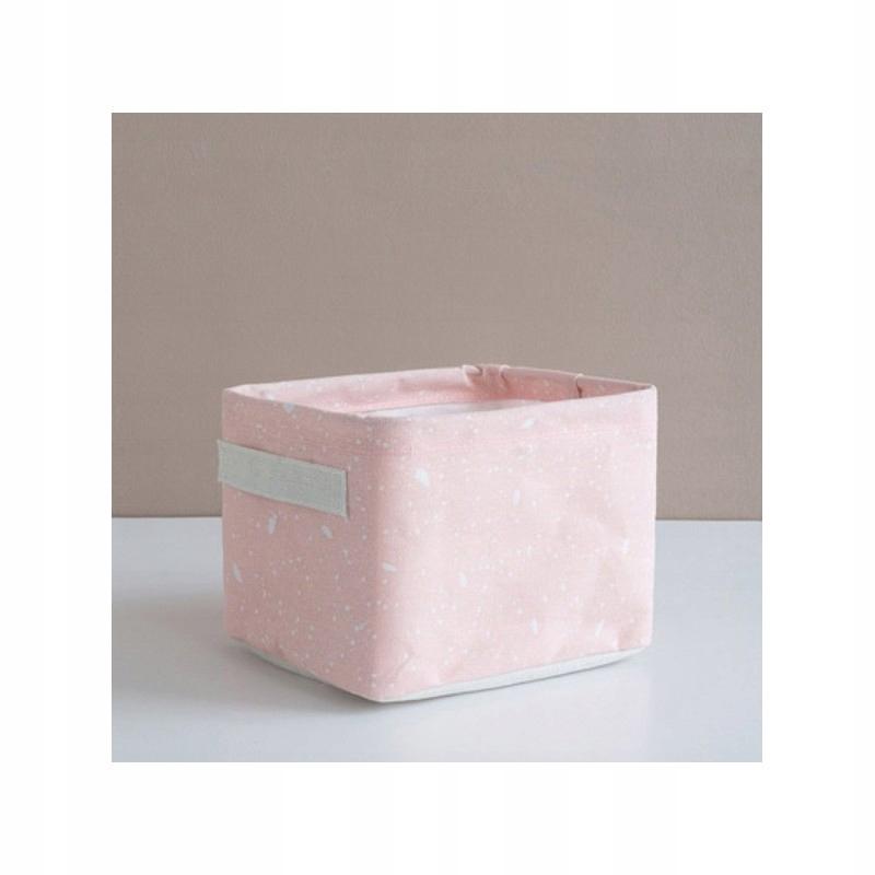Pojemnik na zabawki kosz, worek na pranie róż OR53