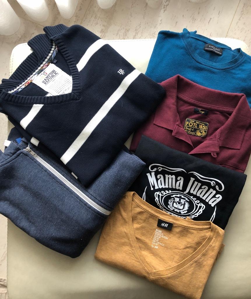 Zestaw męskich ubrań 6 sztuk! Zara H&M L M