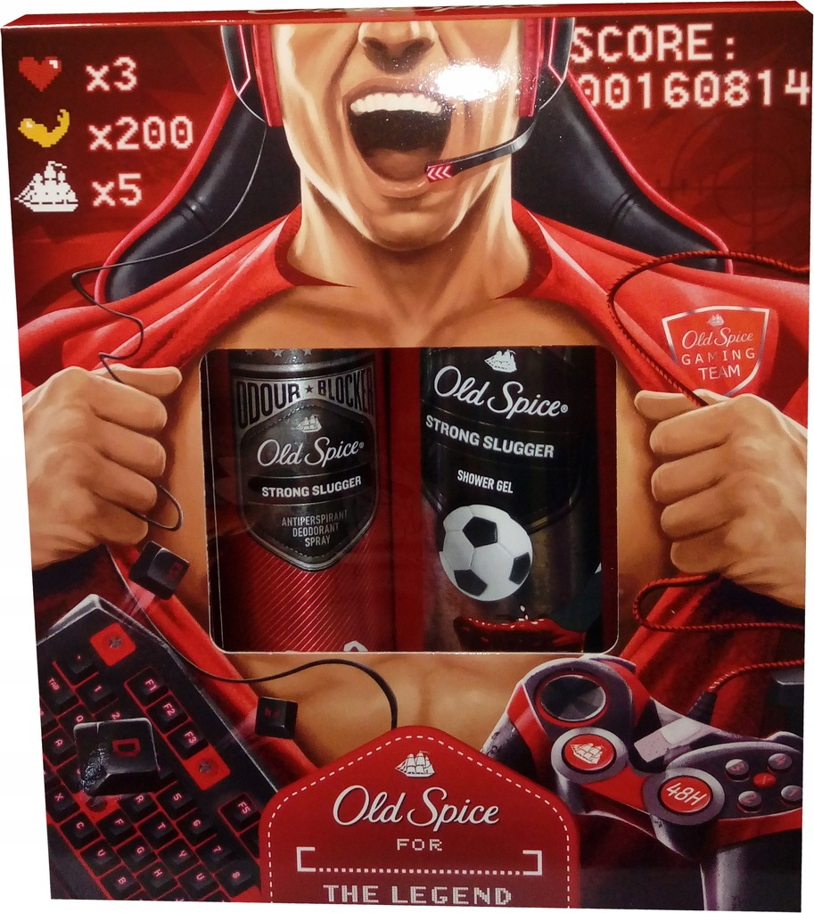 OLD SPICE Strong Slugger zestaw upominkowy prezent