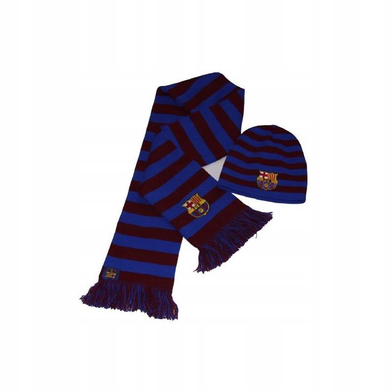 Zestaw czapka i szalik FC BARCELONA