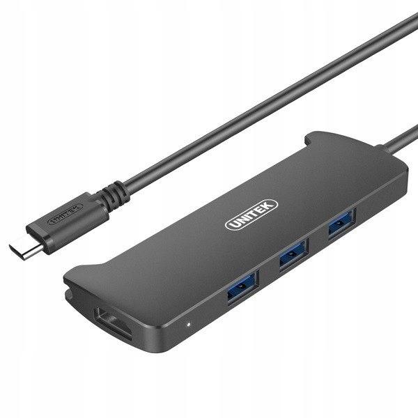 HUB USB Typ-C 3.1, 3x USB 3.1 + HDMI v2.0; V300A