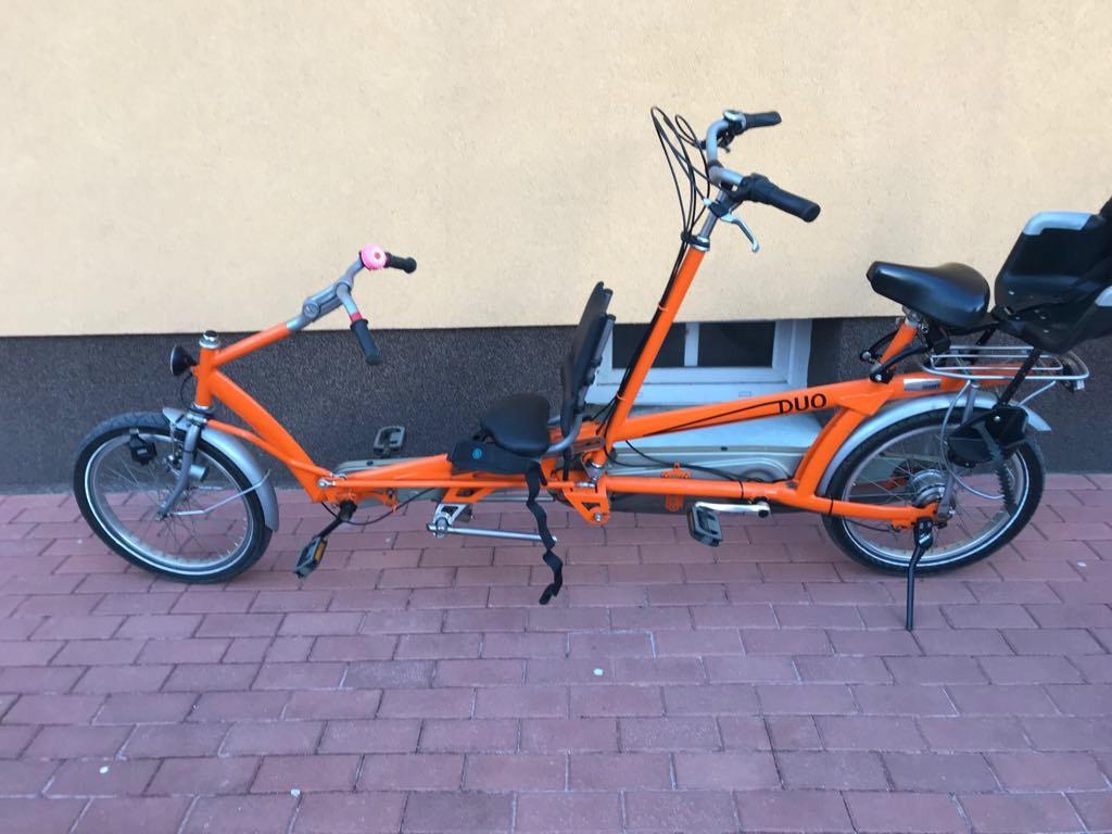 Rower Tandem Duo Van Raam dla dziecka
