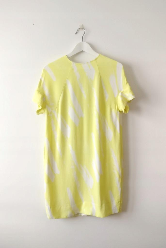 Sukienka COS XS S żółta minimalizm świetna jakość