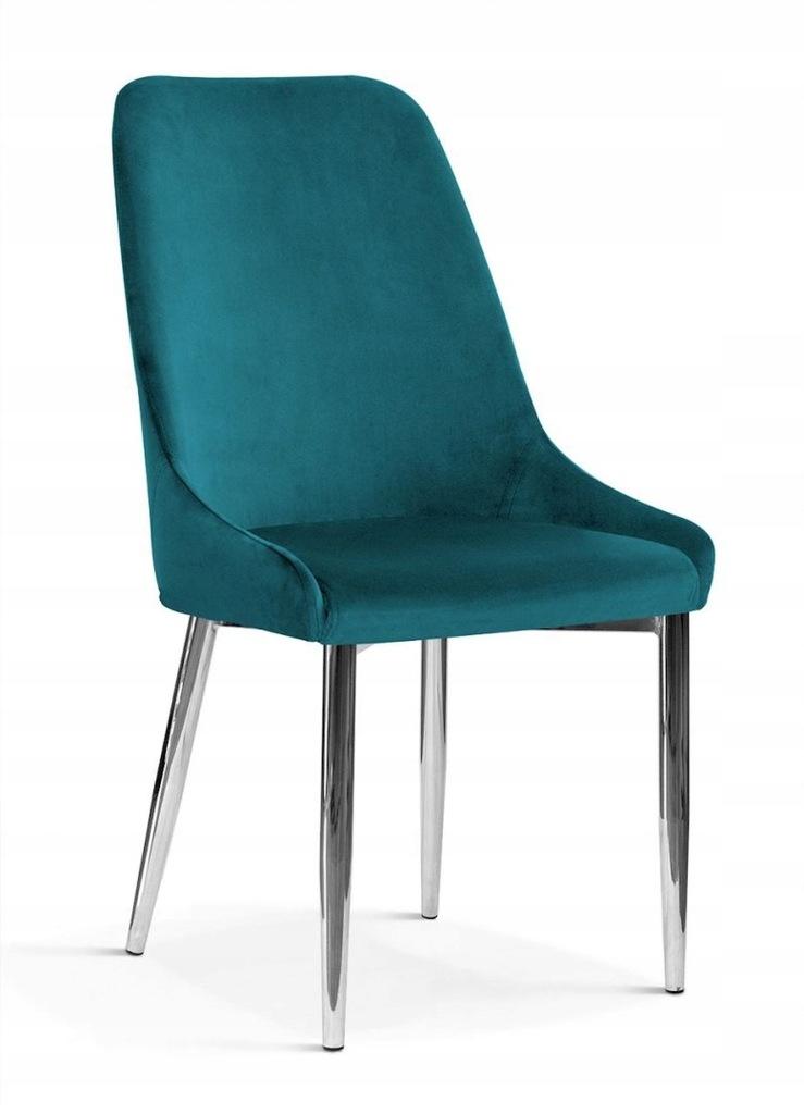 Krzesło OLIVIER M turkus/ noga chrom/ BL85
