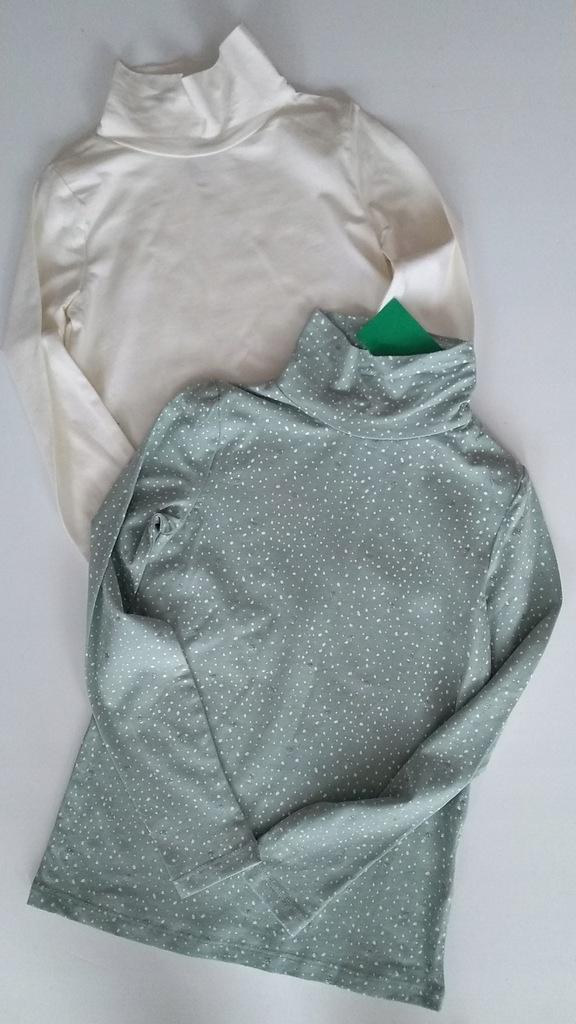 H&M 2pack nowych golfików roz.122/128