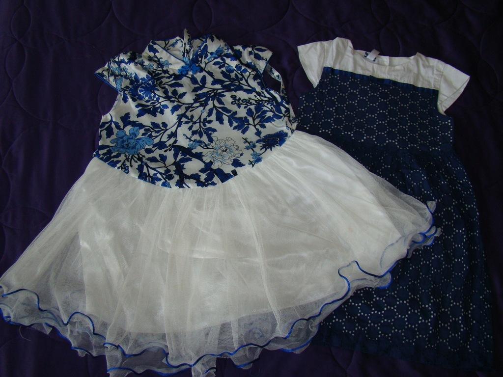 Sukienki z krótkim rękawem r. 122 6-7 lat